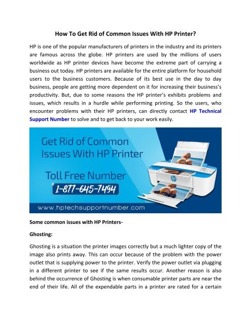 How To Get Rid of Common Issues With HP Printer