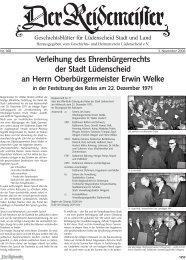 Verleihung des Ehrenbürgerrechts der Stadt Lüdenscheid an Herrn ...