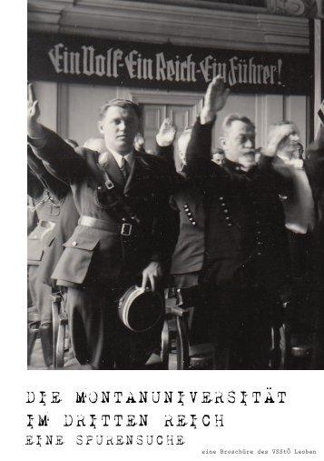 Die Montanuniversität im Dritten Reich - eine Spurensuche