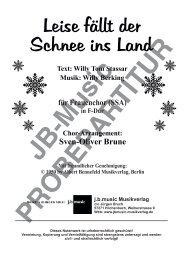 Leise fällt der Schnee ins Land (für Frauenchor SSA) in F-Dur