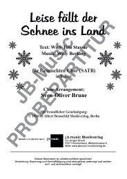 Leise fällt der Schnee ins Land (für Gemischten Chor SATB) in F-Dur