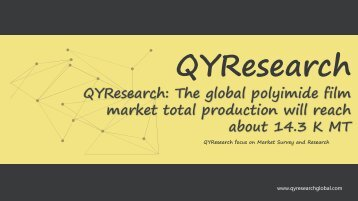 QYResearch: The global polyimide film market total production will reach about 14.3 K MT