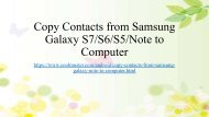 Save Samsung GalaxyNote Contacts to Computer