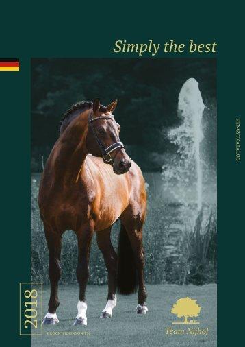 Hengstenbrochure Nijhof - Duits