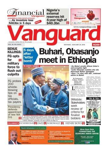 29012018 - Buhari, Obasanjo meet in Ethiopia