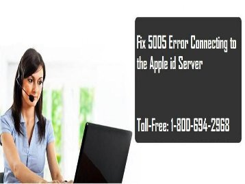 Call 1-800-694-2968 To Fix 5005 Error Connecting to the Apple id Server