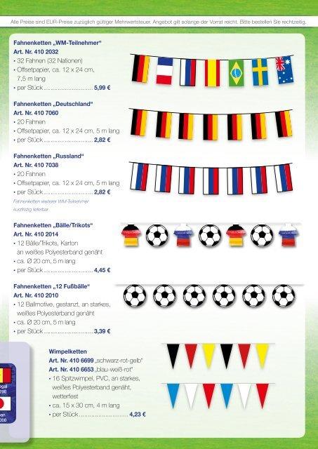 Fan Werbeartikel Dekorationsartikel Weltmeisterschaft Russland