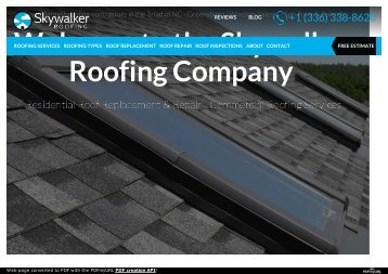 Skywalker-Roofing Repair Services NC