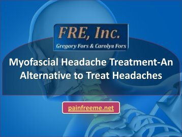 Myofascial Headache Treatment