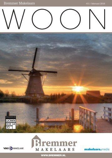 Bremmer Makelaars WOON magazine, februari 2018