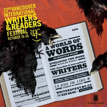 Program Guide in pdf - Vancouver International Writers Festival