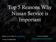 Top 5 Reasons Why Nissan Service is Important - All Nissan 4WD