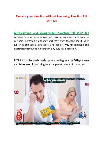 Undesired Pregnancy? Buy Abortion Pill Kit Mifepristone and Misoprostol Online at GenericEPharmacy