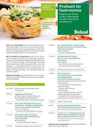 Profiwelt für Gastronomie - Bioland
