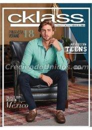 #621 catálogo cklass caballero primavera verano 2018