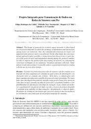 Projeto Integrado para Comunicação de Dados em ... - SBRC 2010