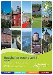 Haushalt 2018 nach der Organisationsstruktur Dez. IV