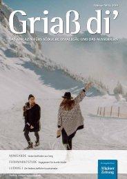 Grias di'-Magazin Februar/März 2018