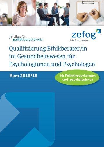 Qualifizierung Ethikberater/in im Gesundheitswesen