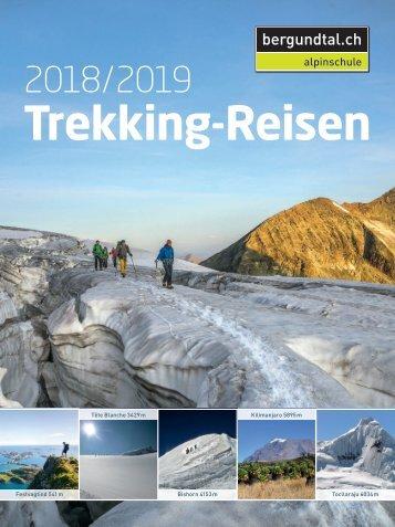Bergundtal Broschuere Trekking 2018/2019