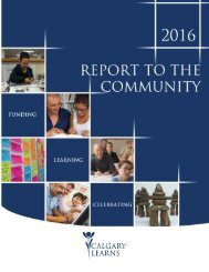Calgary Learns - 2016 Report to the Community
