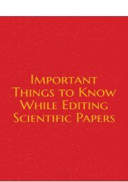Important Things to Know While Editing Scientific Papers