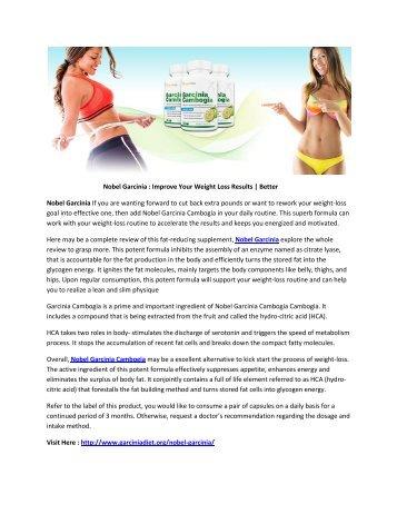 Nobel Garcinia - Burn Fat Quick & Get a Healthy Life !