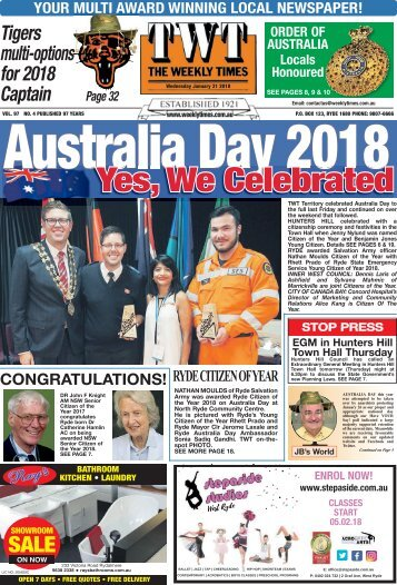 The Weekly Times - 31st January, 2018