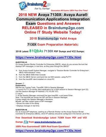 [2018-January-New]Braindump2go New 7130X PDF Dumps 81Q&As Free Share(45-55)
