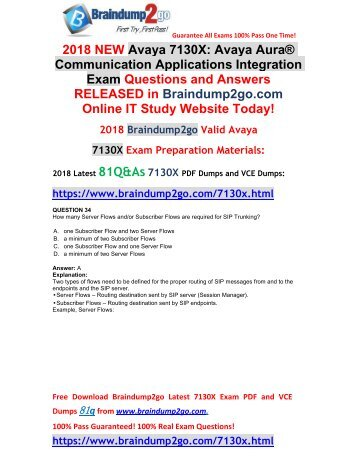 [2018-January-New]Braindump2go New 7130X VCE and 7130X PDF Dumps 81Q&As Free Share(34-44)