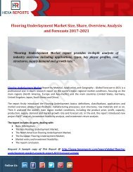 Flooring Underlayment Market Size, Share, Overview, Analysis and Forecasts 2017-2021