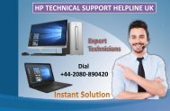 HP Technical Support Helpline UK +44-2080-890420