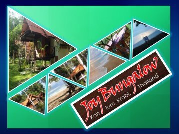 Come and Experience the Great Attraction of Koh Jum Island with Joy Bungalow