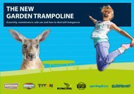 Trampolin Hinweise english