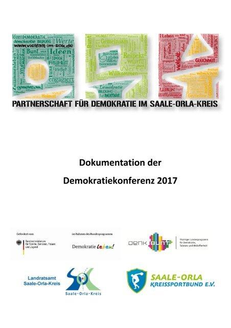 2017_Dokumentation Demokratiekonferenz des Saale-Orla-Kreises