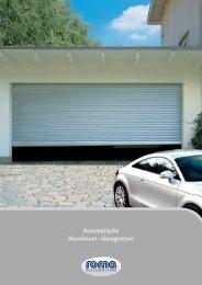 Automatische Aluminium - Garagentore - Diemer+Sauter
