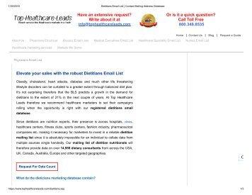 Dietitian Mailing List