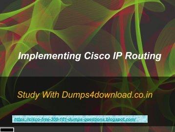 Cisco 300-101 Exam Questions - Free 3 Months Updates