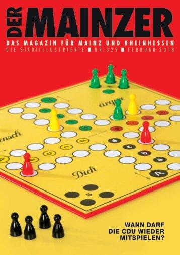 DER MAINZER - Das Magazin für Mainz und Rheinhessen - Nr. 329