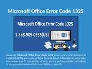 Fix MS Office Error Code 1325 Call 1-888-909-0535 Support Number