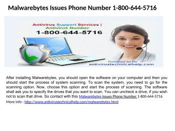 Malwarebytes Problem Phone Number 1-800-644-5716