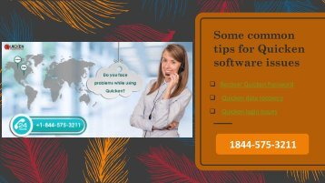 Some common tips for Quicken software issues