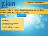 Geriatric Medicines Market