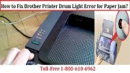 Dial 1-800-213-8289 to Fix Brother Printer Drum Light Error for Paper Jam