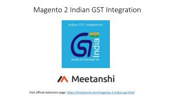 Magento 2 Indian GST Integration
