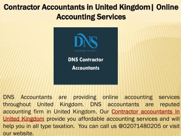 Contractor Accountants in United Kingdom| Online Accounting Services