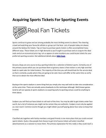 6 World Series tickets