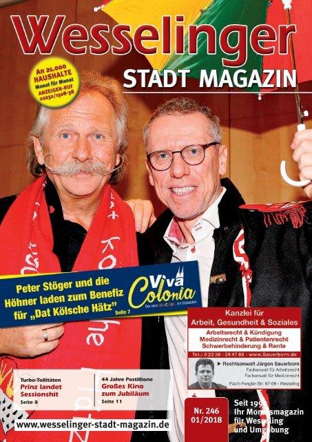 Wesselinger Stadt Magazin Januar 2018