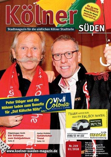 Kölner Süden Magazin Januar 2018