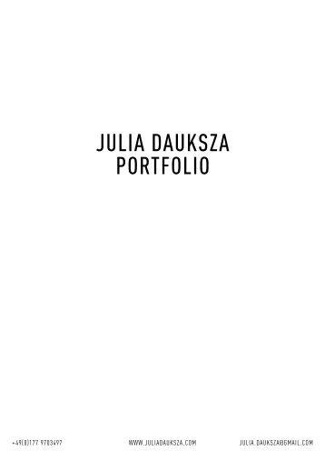 Julia Dauksza Portfolio